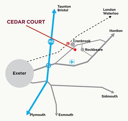 Cedar Court location map