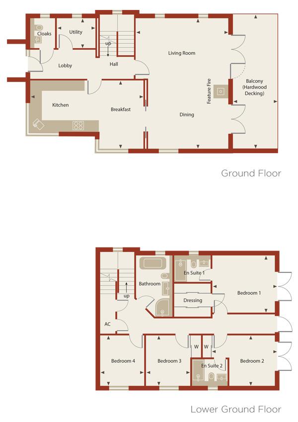 Cedar Court Homes 1-4 Plans