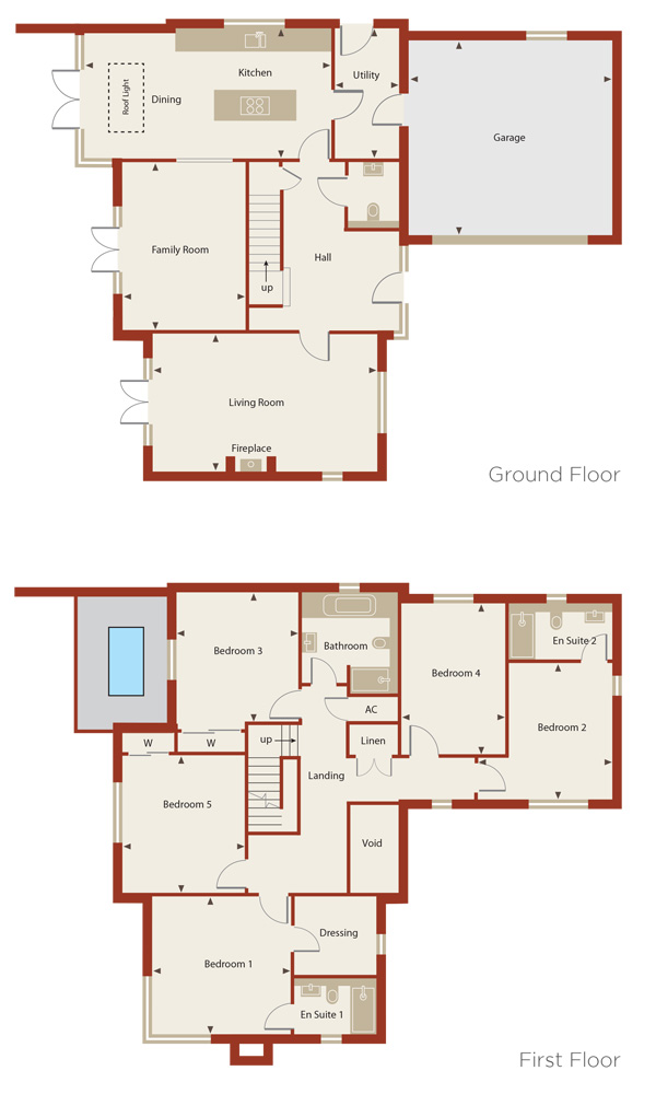 Cedar Court Home 5 Plans