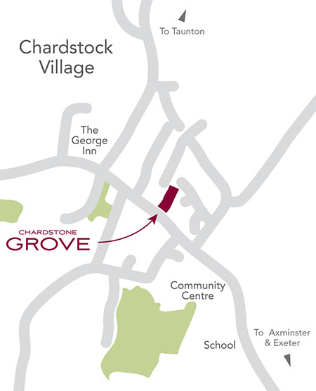 Chardstock Grove Location Map