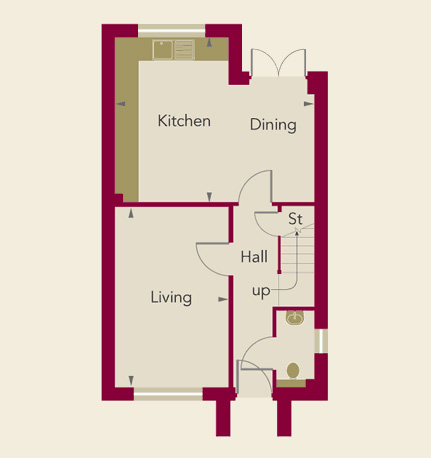 Chardstone Grove Home 1 Ground Floor Plan