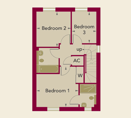 Chardston Place Home 3 First Floor Plan