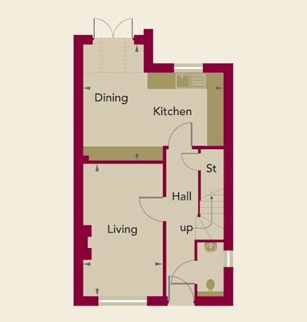 Chardstone Place Home 3 Ground Floor Plan