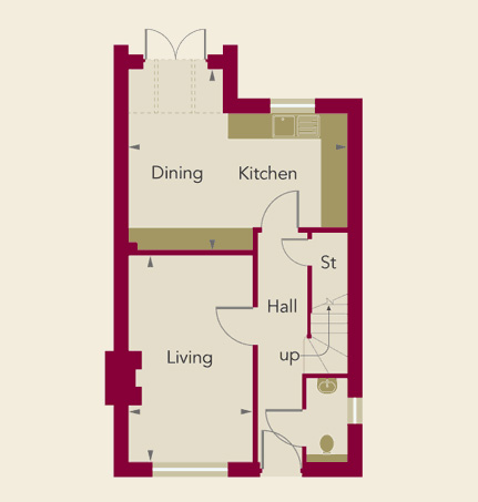 Chardstone Place Home 4 Ground Floor Plan