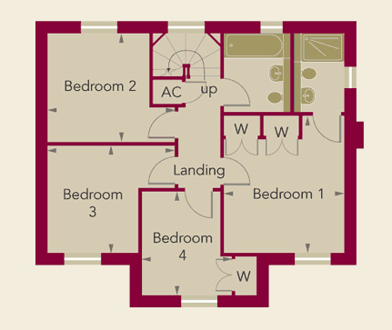 Chardstone Place Home 5 First Floor Plan