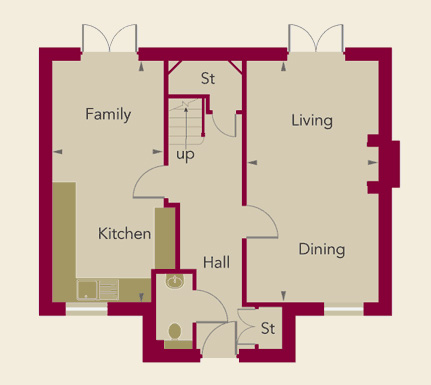 Chardstone Place Home 5 Ground Floor Plan