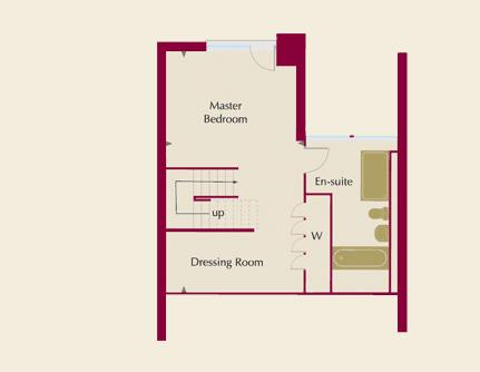 The Moorings Homes 1, 3, 4 & 6 Second Floor Plans