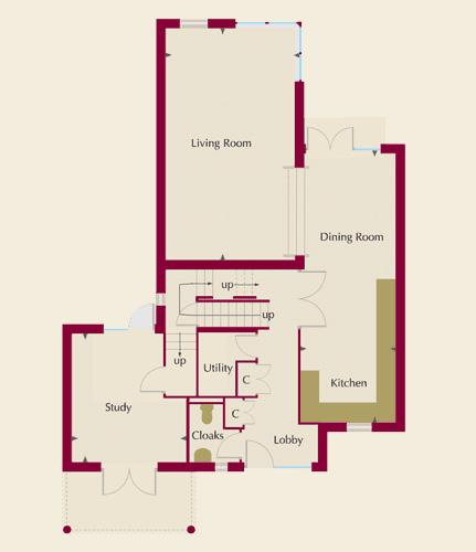 The Moorings Homes 2 & 5 Ground Floor Plans
